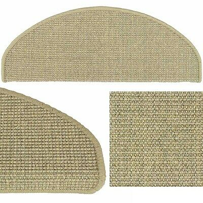 Sisal Stair Tread Mat Stair Cover Natural Fibre Staircase Silver Grey 22x56cm