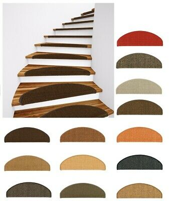 Sisal Stair Tread Mat Stair Cover Natural Fibre Staircase var. colours