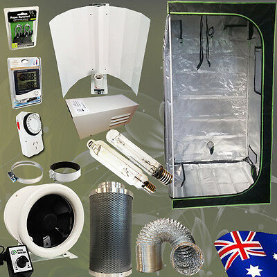 Hydroponics Grow Tent 600W HPS MH Magnetic Ballast Wing Shade 1.2m Ventilation