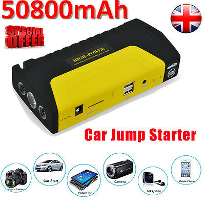 50800mAh 12V Auto Car Jump Starter Emergency Booster Charger Battery Power Bank