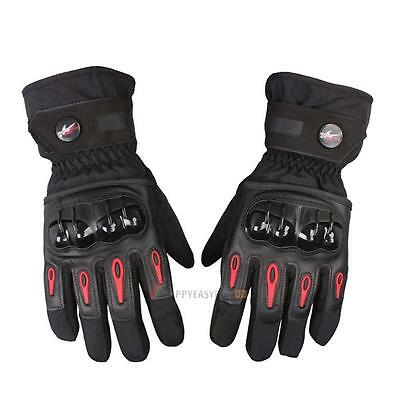 Winter Thermal Waterproof Motorbike Motorcycle Gloves Carbon Knuckle Protection