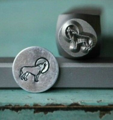 SUPPLY GUY 8mm Wolf Metal Punch Design Stamp SGCH-52