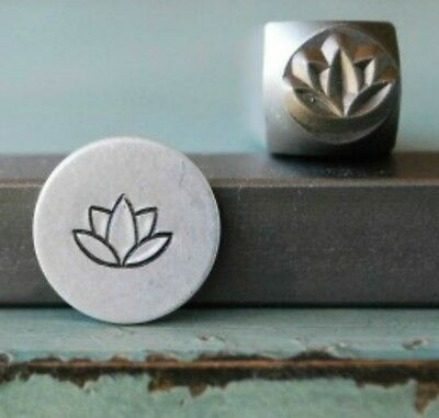 SUPPLY GUY 7mm Lotus Flower Metal Punch Design Stamp SGCH-61