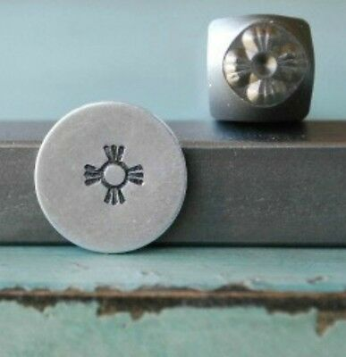 SUPPLY GUY 5mm Indian Metal Sun Metal Punch Design Stamp SGCH-66
