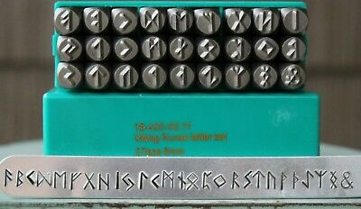 SupplyGuy 6mm 27 Stamp Viking Rune Metal Design Punch Set SGCH-Viking