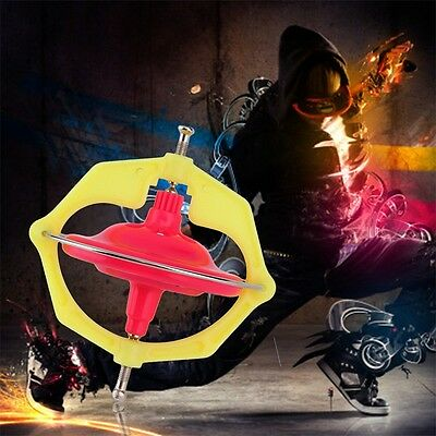Spinning Top Magic Gyroscope Gyro Kids Toy With Music LED Light Gifts QT