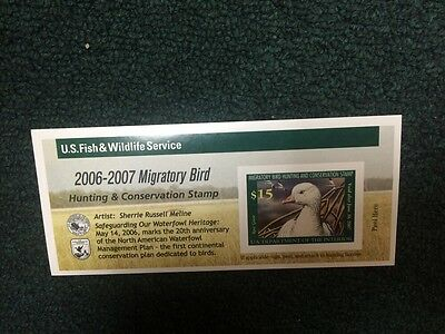 2006 RW73A  Federal Duck Stamp - NH.