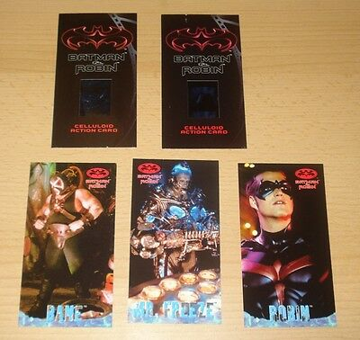 Batman & Robin 2x Celluloid Action Card, 3x Profile