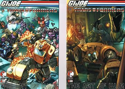 2 issues of G.I. Joe vs Transformers (1 Cover A&B) - The Art of War (NM) (1213)