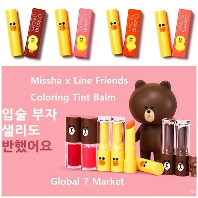 [Limited Edition] Missha x Line Friends Coloring Tint Balm (4 Colors) & Remover