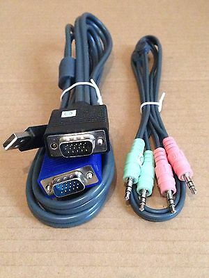 Avocent CBL0042 KVM Cable Set - VGA USB Audio - Switchview etc