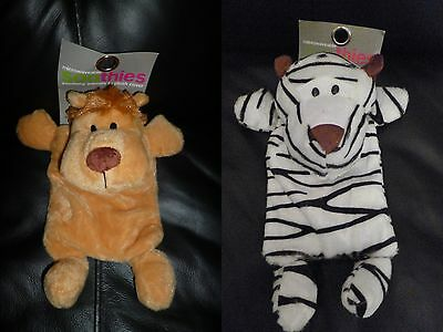 Microwaveable SOOTHIES bead bag Safe Hot Water Bottle BNWT Zebra Lion
