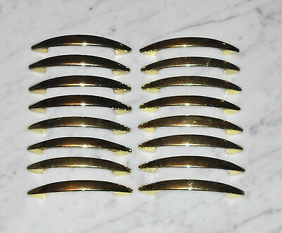 16 Solid Vintage MCM Sleek AJAX & Taiwan Gold Cabinet Drawer Pull Handles - 4in