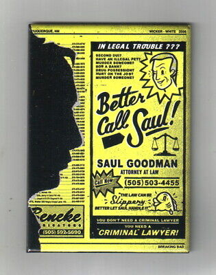Breaking Bad TV Series Saul Goodman Lawyer Yellow Pages Ad Magnet, NEW UNUSED