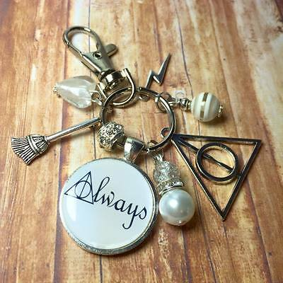 "HARRY POTTER Deathly Hallows ""Always"" keyring FREE P&P"