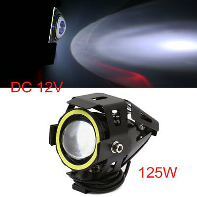 Waterproof White U7 LED Spot Light Driving Lamp Headlight 125W for Motorcycle