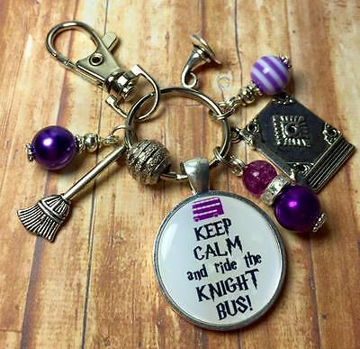 HARRY POTTER ride the KNIGHT BUS keyring FREE P&P