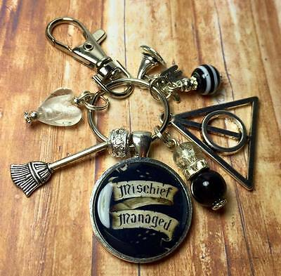 "HARRY POTTER ""Mischief Managed"" keyring FREE P&P"