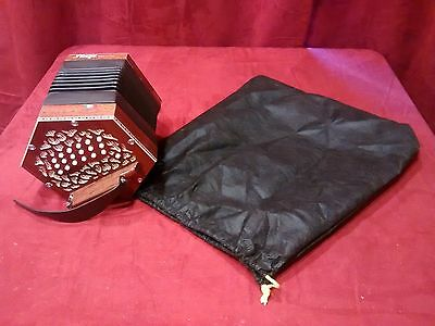 NEW Stagi W-40-MS Mahogany Anglo Concertina  M 40 Button Made in Italy