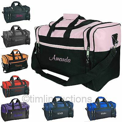 Personalized Gym Bag Sports Duffel Travel Carry On Groomsmen Gift Cheer Dance