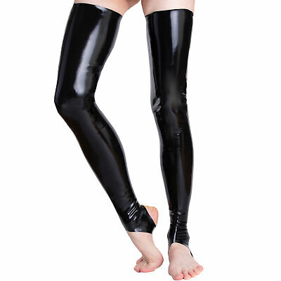 Latex Gummi Rubber Strümpfe Klinik Stockings Socks Superlang Offen S M L XL