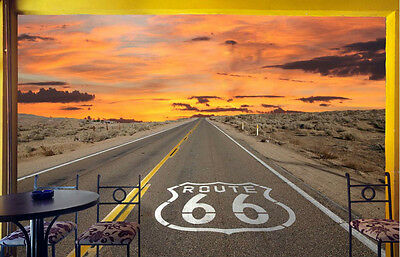 Route 66 12' x 8' (3,66m x 2,44m)-Wall Mural
