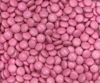 Hot Pink Choc Buttons 1Kg Crunchy Chocolate Drops Beanies Hot Pink Lollies