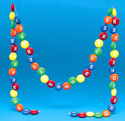 3 M&M Candy Garlands Free S&H