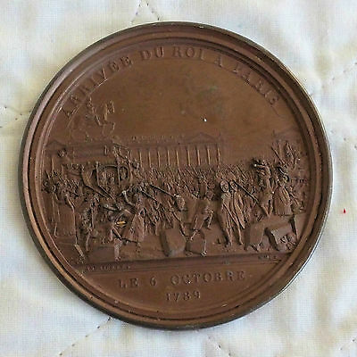 1789 THE FRENCH REVOLUTION IN PARIS No 2 SINGLE SIDED 86mm MEDAL - by andrieu f
