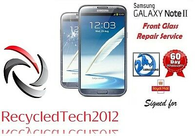 Samsung Note 2 N7100 Screen Replacement Cracked Front Glass Repair Service