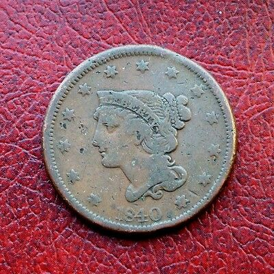 USA 1840 copper large cent