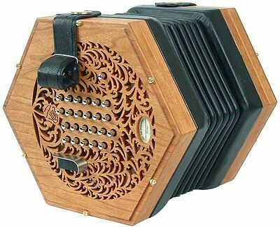 NEW Concertina Connection Rose English Treble Concertina Wood M 45 Button