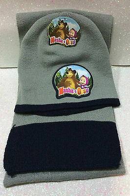 Masha E Orso Masha And The Bear Cappello E Sciarpa Hat And Scarf Winter Set