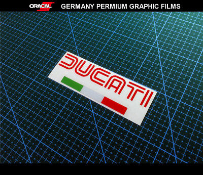 DUCATI Italy Flag logo Motorcycle Decal Vinyl Sticker #1