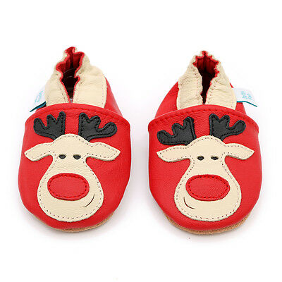 Dotty Fish Soft Leather Baby & Toddler Shoes - Rudolph - 0-6 Months - 3-4 Years