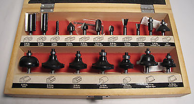 """Craftsman Boxed 18pc Carbide 1/4"""" Shank Router Bits"""