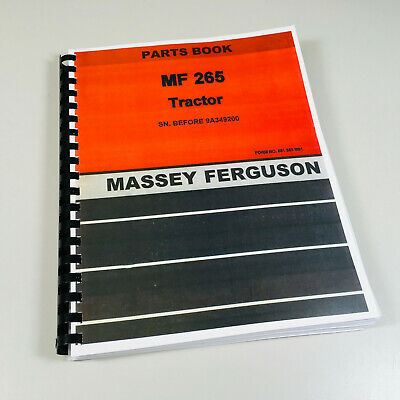 Massey Ferguson 265 Tractor Parts Catalog Manual View Assembly Gas Diesel