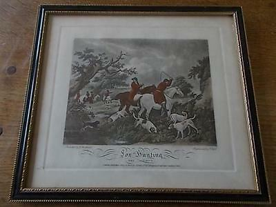 FOX HUNTING The Check Sporting Print by G Morland - E bell engraving 1801