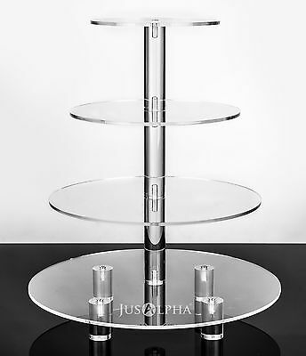 4 5 6 7 8-Tier Large Acrylic Glass Round Cupcake Tower Stand-Cake Stand-Dessert
