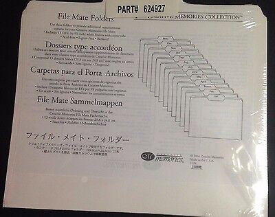 Creative Memories File Mate Folders NEW in package,13 Folders