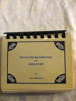 Vintage Decorative Backgrounds for Needlepoint by June McKnight Book
