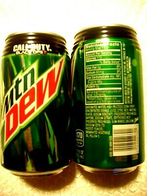 2015 - FULL Can MTN MOUNTAIN DEW CALL OF DUTY BLACK OPPS lll RIBBED NECK HAWAII