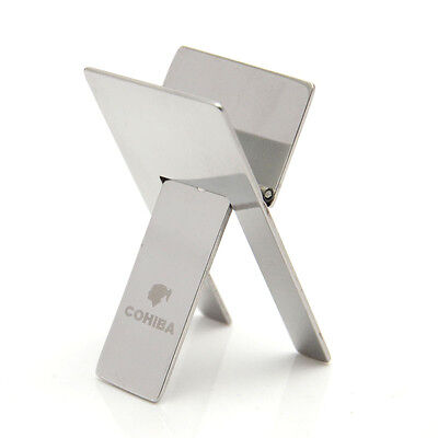 COHIBA Stainless Steel Foldable Portable Cigar Stand Holder New
