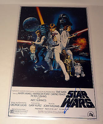 George Lucas Director Star Wars Signed Autograph Movie Poster Coa #2
