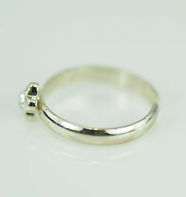 Toe Ring Silver Tone Flower Rhinestone Feature Adjustable Brand New Uk