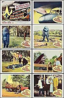 EARTH VS THE FLYING SAUCERS Complete Set Of 8  11x14 LC Prints * 1956