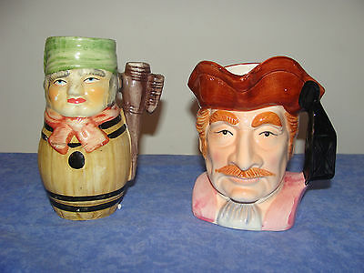 2 Anciennes Chopes Barbotines Personnages