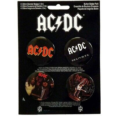 AC/DC Button Badge Set #1 Official Metal Badges New