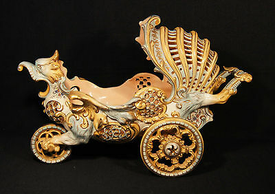 1880's Rococo Inspired 3 Wheeled Carriage Dragon Reticulated Fischer J Budapest
