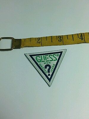 Guess jeans green triangle patch